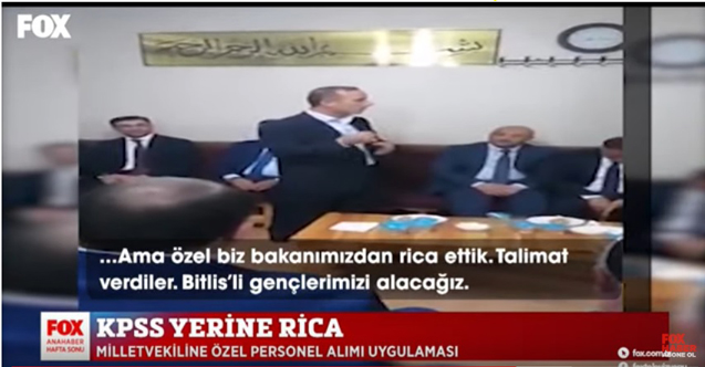 AKP'li Vekil Vahit Kiler'den skandal torpil açıklamasının videosu ortaya çıktı!