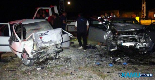 Avanos'ta feci trafik kazası! Otomobiller kafa kafaya çarpıştı: 3 ölü, 2 yaralı