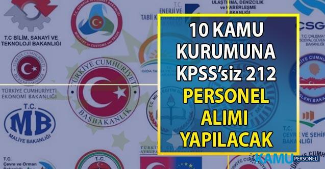 İŞKUR aracılığı ile 10 kamu kurumuna KPSS'siz en az ilköğretim mezunu 212 personel alımı yapılacak!