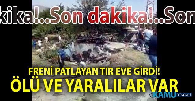 Kayseri'de Freni patlayan kamyon eve girdi! Ölü ve yaralılar var