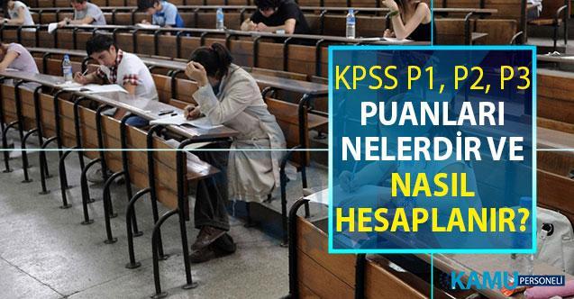 KPSS P1, P2 ve P3 Puanları Nedir, Puan Hesaplama Nasıl Yapılır?