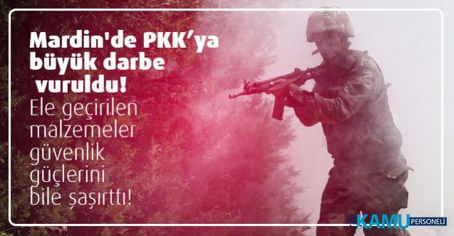 Mardin'de PKK'ya büyük darbe vuruldu! Ele geçirilen malzemeler güvenlik güçlerini bile şaşırttı!