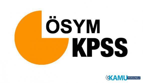 ÖSYM Başkanlığı, 2019 KPSS ve 2018 KPSS Branş Sıralamalarını Güncelledi