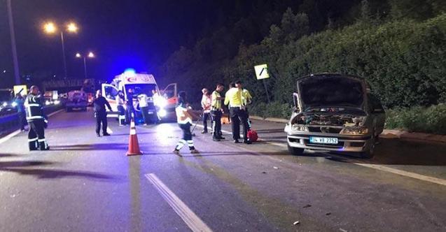 Otoyolda katliam gibi kaza! 3 kişi hayatını kaybetti! 3 kişi yaralandı