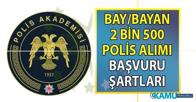 PAEM ve POMEM 2 bin 500 bay bayan polis alımı başvuruları Cuma günü sona eriyor!