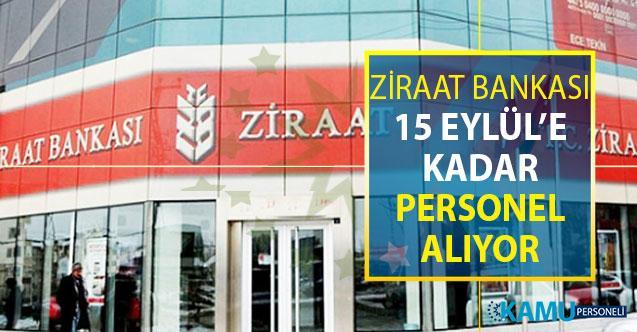 Ziraat Bankası 15 Eylül'e Kadar Personel Alımı Yapacak ! Kimler Başvuru Yapabilir? İşte Başvuru Şekli