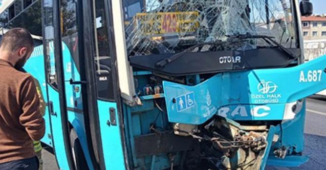 İstanbul Avcılar'da otobüs kaldırıma çıktı! Çok sayıda yaralı var!