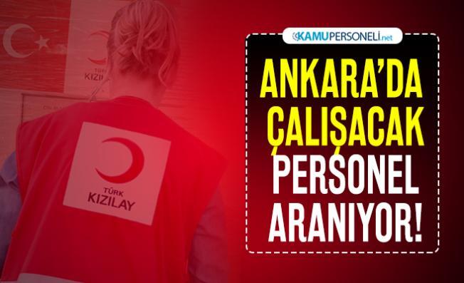 Kızılay KPSS şartsız Ankara'da personel alımı yapacak! Başvuru şartları açıklandı