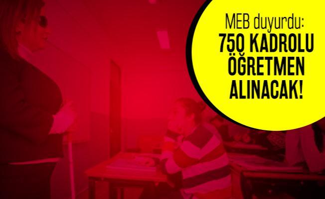 MEB duyurdu: EKPSS puan sıralaması ile 750 Öğretmen alımı yapılacak! EKPSS öğretmen alımı başvuru şartları neler?