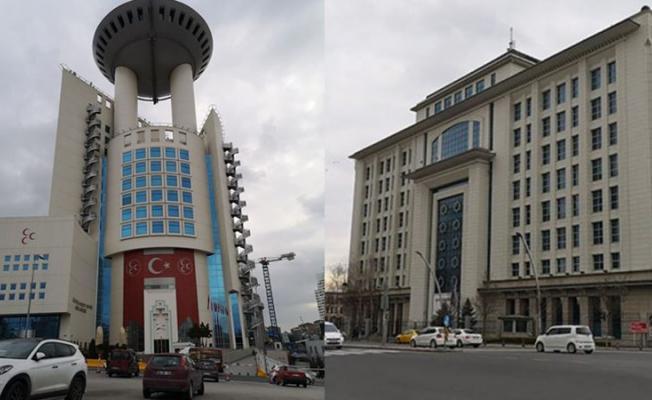 34 Şehit haberi sonrası AKP ve MHP genel merkezlerine bayrak asılmaması dikkat çekti!