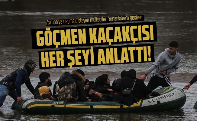 Avrupa'ya geçmek isteyen mültecileri Yunanistan'a geçiren göçmen kaçakçısı her şeyi anlattı! 3 bin liraya...