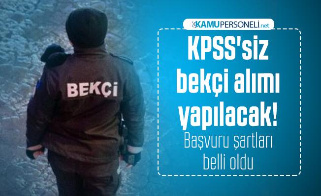 Bekçi alımı bekleyenler dikkat: Belediye KPSS'siz bekçi alımı yapacak! Başvuru şartları belli oldu