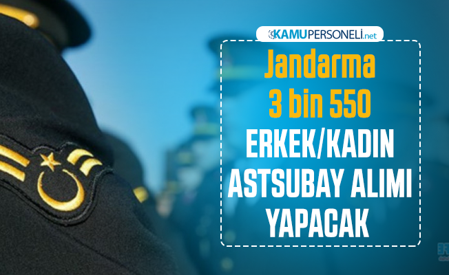 Jandarma 3 bin 550 erkek kadın astsubay personel alımı yapacağını duyurdu: Başvurular 21 Şubat tarihinde sona erecek