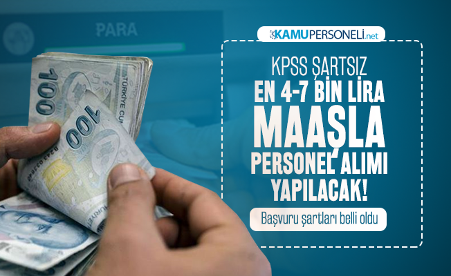 KPSS'siz en az 4-7 bin lira maaşla 29 farklı meslekte Kızılay personel alımı yapacak!