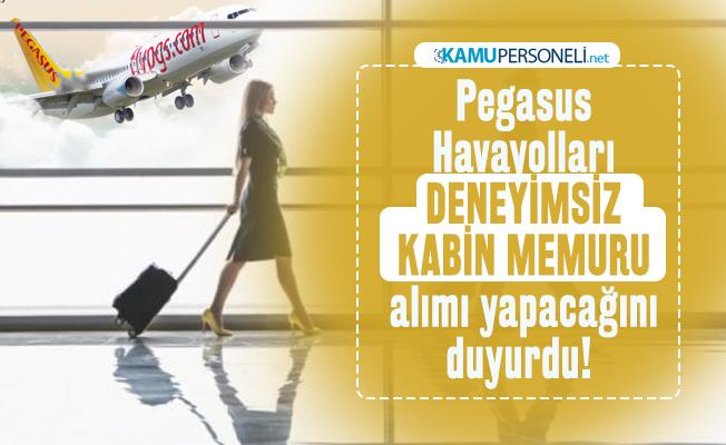 Pegasus Havayolları deneyimsiz kabin memuru alımı yapacağını duyurdu!