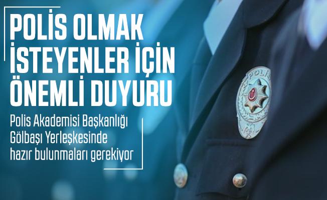 Polis olmak isteyenler için önemli duyuru: 2020 Polis alımı için PAEM yeni yedek duyurusu yayımladı!