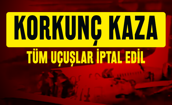 Son dakika İstanbul'da korkunç kaza: İzmir İstanbul seferini yapan Pegasus havayollarına ait uçak üç parçaya ayrıldı