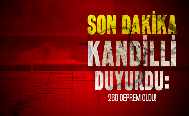 Son dakika Kandilli duyurdu: 260 deprem oldu!