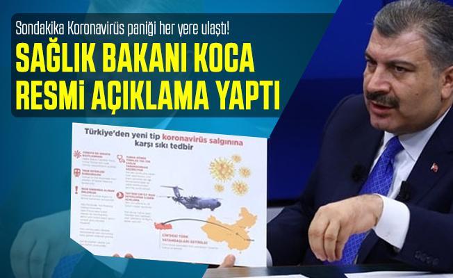 Sondakika Koronavirüs paniği her yere ulaştı! Sağlık Bakanı Koca'dan önemli koronavirüs açıklaması
