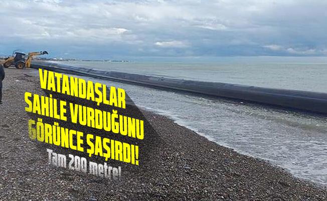 Vatandaşlar sahile vuran boruyu görünce şok oldu!