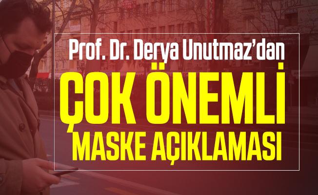 Amerika'da yaşayan Türk profesör Unutmaz'dan çok öneli maske açıklaması!