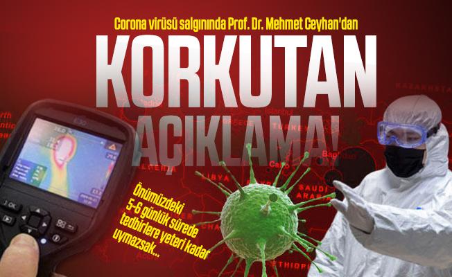 Corona virüsü salgınında Prof. Dr. Mehmet Ceyhan'dan korkutan açıklama!