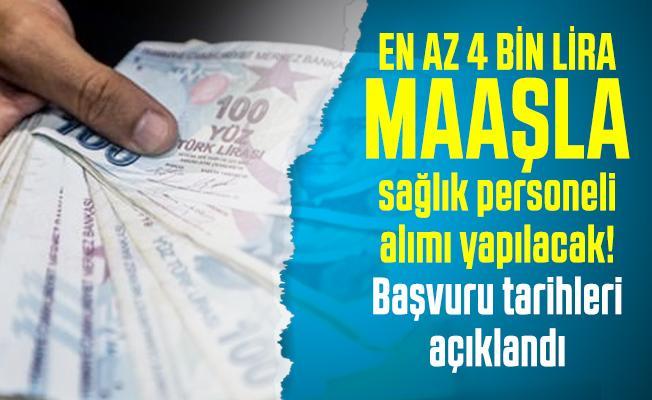 En az 4 bin lira maaşla KPSS'siz sağlık personeli alımı yapılacak! Başvuru tarihleri açıklandı
