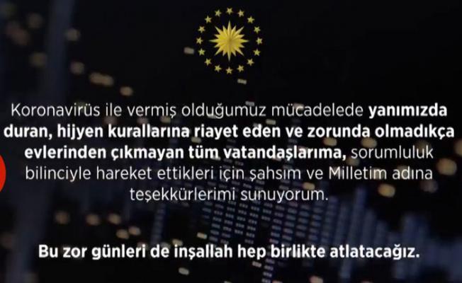 Son dakika! Cumhurbaşkanı Erdoğan'dan sokağa çıkmayın mesajı