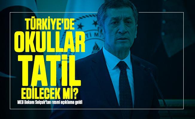 Türkiye'de corona virüsü nedeniyle okullar tatil edilecek mi? MEB Bakanı Selçuk'tan resmi açıklama geldi