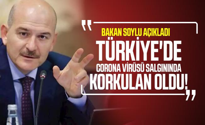 Türkiye'de corona virüsü salgınında korkulan oldu! Bakan Soylu açıkladı