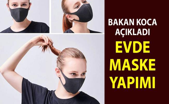 Evde Maske Yapımı yapabilirsiniz Bakan Koca Açıkladı: Maske satışları yasaklandı her yerde ücretsiz olacak
