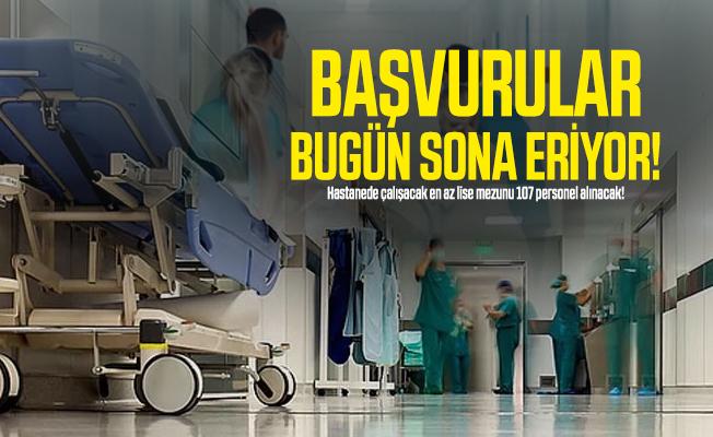 Hastanede çalışacak en az lise mezunu 107 personel alınacak! Başvurular bugün sona eriyor!