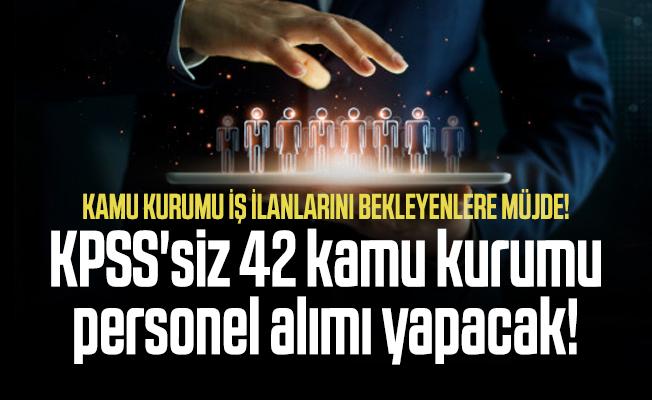 Kamu kurumu iş ilanlarını bekleyenlere müjde! KPSS'siz 42 kamu kurumu personel alımı yapacak!