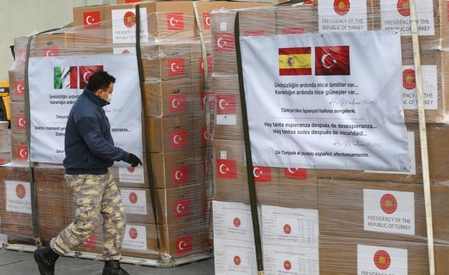 MSB tarafından üretilen koruyucu sağlık ekipmanları İtalya ve İspanya'ya gönderildi!