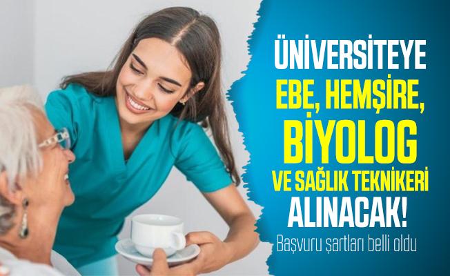 Üniversiteye ebe, hemşire, biyolog ve sağlık teknikeri alınacak! Başvuru şartları belli oldu