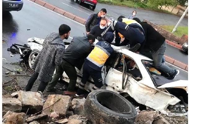 Kayseri'de trafik kazası! 1 ölü 2 yaralı