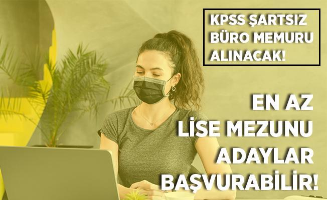 Büro memur alımı bekleyenler dikkat! Belediyeye KPSS şartsız personel alımı yapılacak! Başvurular 29 Haziran'da sona erecek!