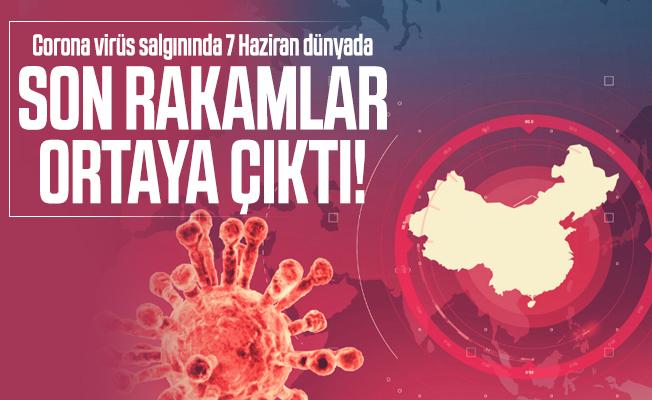 Corona virüs salgınında 7 Haziran dünyada son rakamlar ortaya çıktı! Türkiye corona virüs vaka ve ölü sayısı kaç?