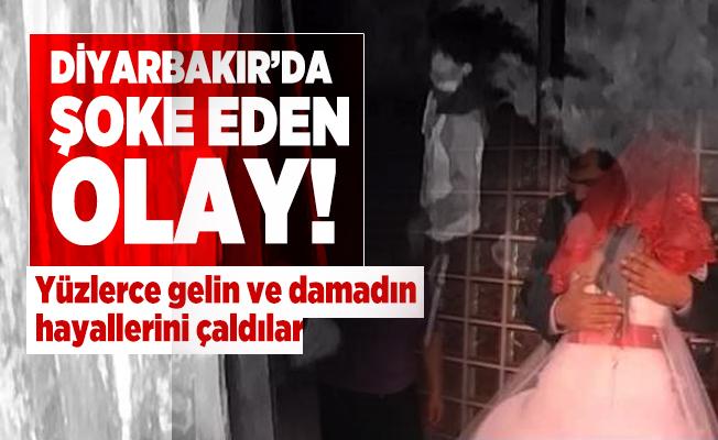 Diyarbakır'da şoke eden olay! Yüzlerce gelin ve damadın hayallerini çaldılar