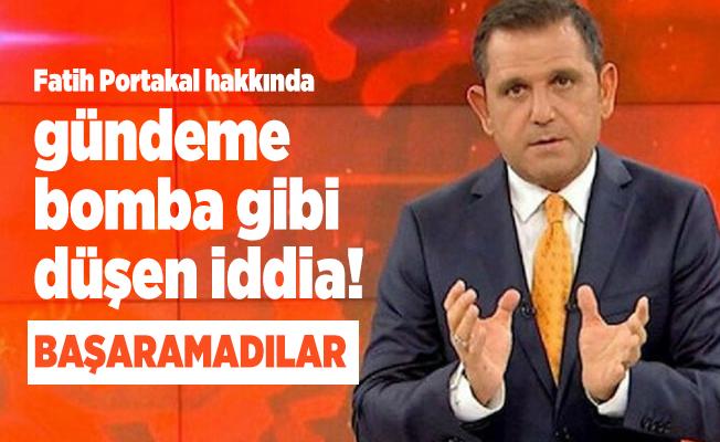 Fatih Portakal hakkında gündeme bomba gibi düşen iddia! Başaramadılar