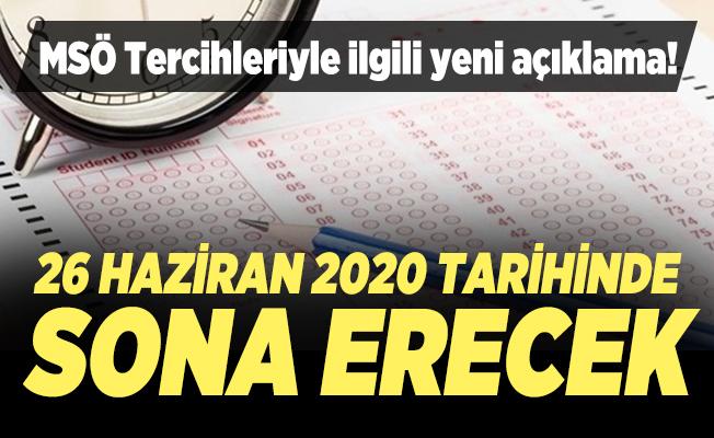 Milli Savunma Üniversitesi (MSÜ) Askeri Öğrenci Aday Tercih işlemleriyle ilgili yeni açıklama!