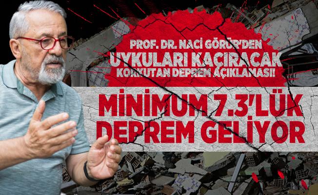 Prof. Dr. Naci Görür'den uykuları kaçıracak korkutan deprem açıklaması! Minimum 7.3'lük deprem geliyor