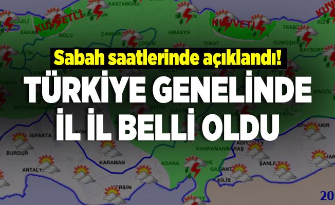 Sabah saatlerinde açıklandı! Türkiye genelinde il il belli oldu