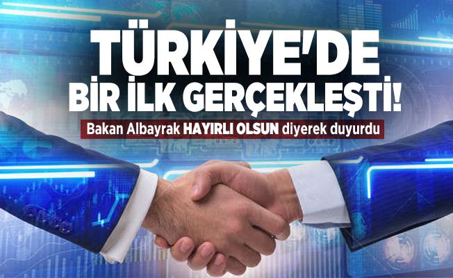 Türkiye'de bir ilk gerçekleşti! Bakan Albayrak Hayırlı Olsun diyerek duyurdu