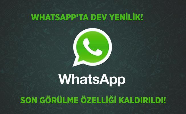 Whatsapp'a dev yenilik geldi! Çevrimiçi ve yazıyor özelliği kaldırıldı!