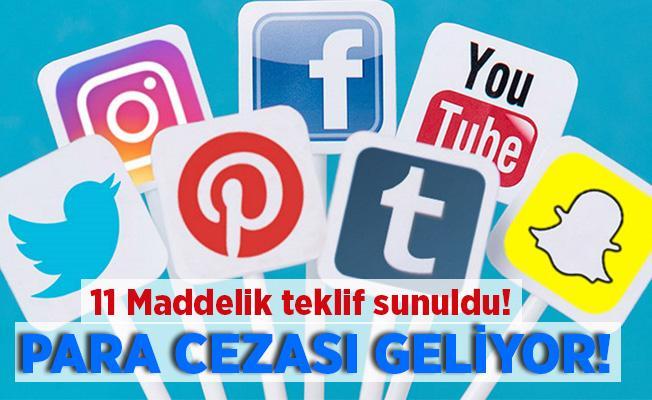 Cumhurbaşkanı Erdoğan'a 11 maddelik sosyal medya teklifi sunuldu! Para cezası geliyor!