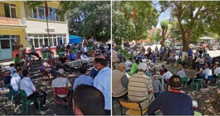 AKP'li vekil kendi köylüleri ile karşı karşıya geldi!