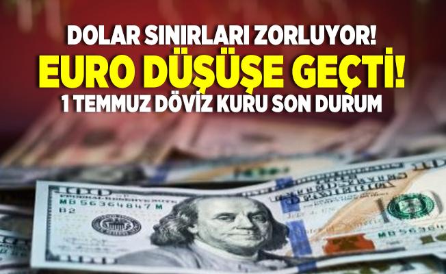 Dolar sınırları zorluyor! Euro düşüşe geçti! 1 Temmuz döviz kuru son durum