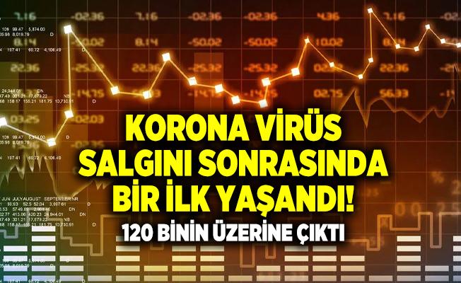 Korona Virüs salgını sonrasında bir ilk yaşandı! 120 binin üzerine çıktı