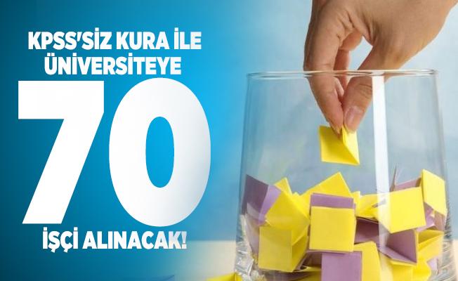 KPSS'siz kura ile Süleyman Demirel Üniversitesi 70 işçi alacak!